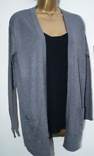 New Ladies NAVY GREY Edge to Edge Knit Cardigan Size 6 : 22