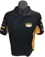 Men's V8 Supercars Polo Shirt Mens Sz L XXXX Kenworth Dunlop Jim Beam Fujitsu