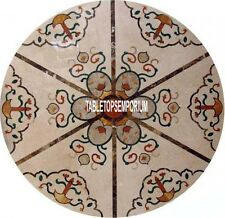 """48"""" Rare Marble Breakfast Table Mosaic Inlay Collectible Arts Furniture Decorate"""