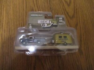 Greenlight Collectible Hitch & Tow 1966 Dodge D-100 & 16' Bambi Airstream Camper