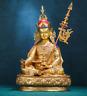 21'' Nepal Tibet Guru Rinpoche Padmasambhava Buddha Bronze Statue