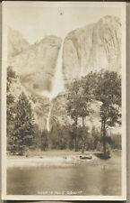 YOSEMITE CA VINTAGE PHOTO POTCARD - Yosemite Falls