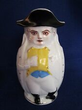 Rare 19th c. Alfred Evans Philadelphia Polychrome Creamware Napoleon Toby Jug