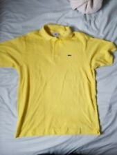 NWT LACOSTE Mens Yellow Polo Shirt Size 5 (M)