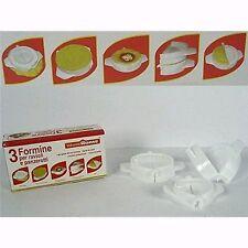 MOULES A CHAUSSON RAVIOLIS X3 PVC BLANC 9.8 CM A 5.2 CM