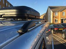 VW Caddy Stangen Schienen Dach Ständer + Abschließbar Schwarz Querstangen Satz