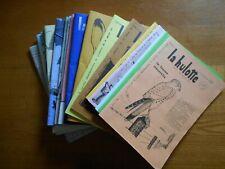 LOT 19 numéros du magazine La hulotte des Ardennes an 1972 a 2003  bon état