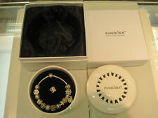 PANDORA BRACELET JEWELRY BOX AUTHENTIC DESIGNER PORCELAIN GOLD SILVER LIMITED