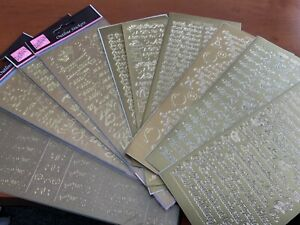 10 GOLD ASSORTED VERSE  GOLD PEEL  OFF STICKERS TO CLEAR SET 37