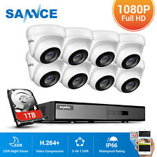 SANNCE 4/8CH 5IN1 1080P Lite DVR 3000TVL Outdoor Surveillance Secuirty Camera US