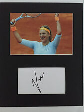 Victoria Azarenka AUTOGRAPHED mounted photo-see signing proof