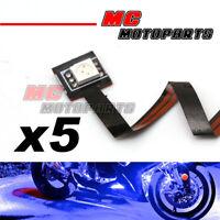 5 pcs Blue Mini Tiny SMD LED 5050 12V Strip Lights for DUCATI Motorcycle