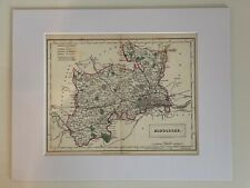 Antique Engraved Map Middlesex London Sidney Hall Travelling Atlas Mounted 1948
