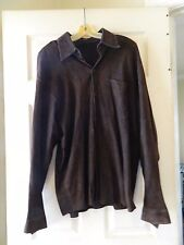 Women's Massani Suede Dark Brown Leather Jacket Size Large