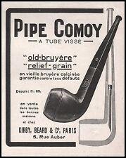 Publicité Pipe COMOY  Tabac Tobacco  photo vintage ad  1926 -2j