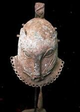 Old   Tribal large Benin Bronze Leopard  Head      -- Nigeria  (U)