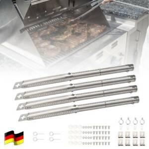 4x Gas BBQ Picknick Grill ausziehbar 305-445mm Rohrbrenner Edelstahl Brennerrohr