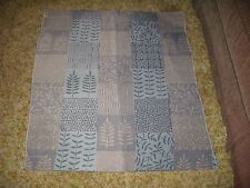 Faded Blues Vtg QUILT Table Cloth Crib Wall Lap Quilt Hanging Fabric Panel 38X32