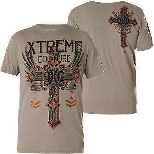 "AFFLICTION ""FAITH & TRUST"" Xtreme Couture Men's XXL T shirt UFC NEW 2XL Tee"