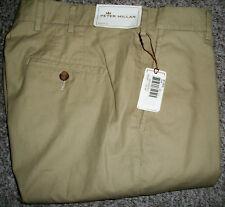 PETER MILLAR COLLECTION Tan 100% Pima Cotton Khaki Pants NWT 32x36 $135