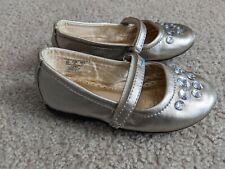 Girls Toddler Gold Gem Ballet Dress Shoes Size 8