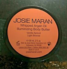 NEW JOSIE MARAN WHIPPED ARGAN OIL Illuminizing Body Butter Vanilla Apricot 2 oz