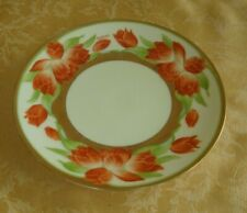 Handpainted M.C. Co Orange Floral With Gold Gilt Plate Signed #3349 47