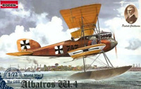 Roden 028 - German Albatros W4 Early World War I  - 1/72 Scale Model Kit 132 mm