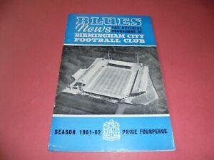 1961/62 BIRMINGHAM CITY v ESPANOL (FAIRS CUP)