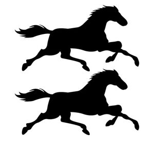 Qty 2 Horse Stickers Car Window Wall Decals Any Colour Pack B 10cm - 50cm