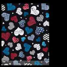Quilting Simply Gorjuss Hearts stripes dots 100% cotton fabric by the yard