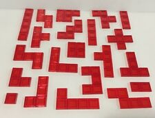 Complete Set Of 21 BLOKUS Replacement Tiles RED Game Pieces Parts