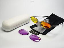 Oakley why 3 Titanium Violet gafas de sol Square Wire Whisker Romeo half X a e 8