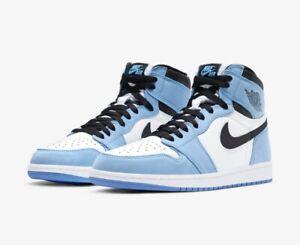 Nike Air Jordan 1 Retro High OG University Blue Mens Shoe UK10 US11 EU45