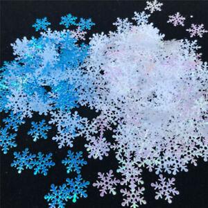 Christmas Artificial Snowflakes Confetti Party Xmas Home Birthday DIY Decor BS
