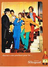 PUBLICITE ADVERTISING  1972   BISQUIT   cognac