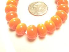 Handmade Lampwork Glass Spacer Rondelle Beads Orange 10MM x 6MM (20)