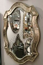 venetian shaped wall mirror oval silver gold accents home decor vanity bathroom - Home Decor Mirrors