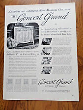 1940 Stewart Warner Radio Phonograph Ad Concert Grand