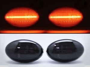 LED Turn Signal Lights Side Marker Black SMD for Smart 450 & Benz W639 W168 W447