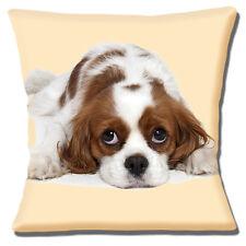 King Charles Spaniel Perro Funda de cojín 40.6x40.6cm 40cm Lindo Cachorro marrón