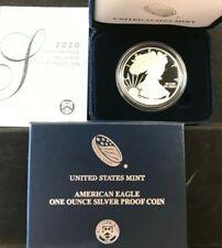 2020-W Silver Proof American Eagle 1oz Coin (ogp/coa) READY NOW!