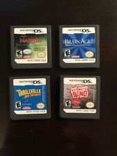 Four 4 Games Nintendo DS Cart Only Narnia Thrillville Ultimate Band Brain Age 2