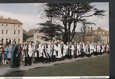 Wiltshire Postcard - Salisbury Cathedral, Clergy Procession   B2705