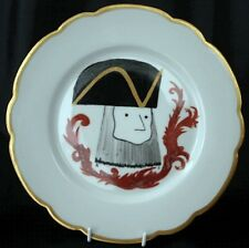 FRENCH Porcelain Plate General Tricorne Rue Richepance