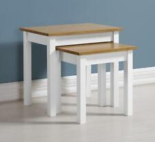 LUDLOW WHITE & OAK EFFECT NEST OF 2 TABLES *FREE NEXT DAY DELIVERY