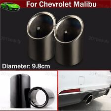 2pcs Black Exhaust Muffler Tail Pipe Tip Tailpipe For Chevrolet Malibu 2009-2018