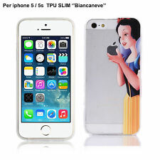 "COVER ""BIANCANEVE"" Per iPHONE 5 iPhone 5s Custodia Trasparente TPU Slim 0.33mm"