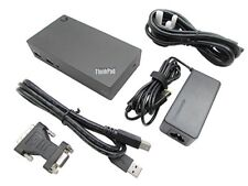 Genuine Lenovo Laptop Docking Station, USB 3.0, Gigabit Ethernet, For Thinkpad