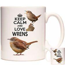 WREN MUG, Keep Calm and Love Wrens, Dishwasher safe. Matching Coaster Available